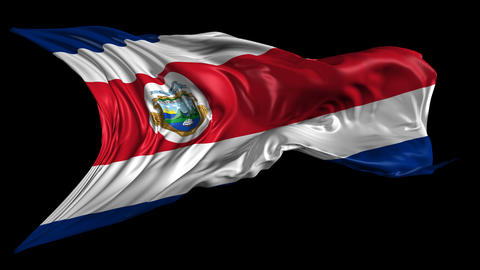 Flag Costa Rica Stock Video Footage