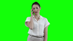 Woman making a call Footage