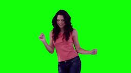 Woman dancing joyfully Footage