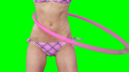 Close up of a woman using a hula hoop Stock Video Footage