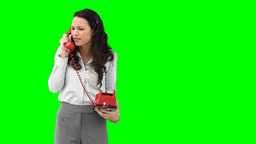 A woman on the phone talking aggressively Stock Video Footage