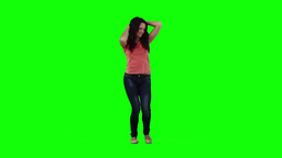 A woman is dancing on her own Footage