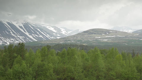 1080p, Mountain Range, Oppland, Norway Stock Video Footage