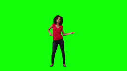 A smiling woman is dancing Stock Video Footage