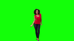 A smiling woman is dancing Footage