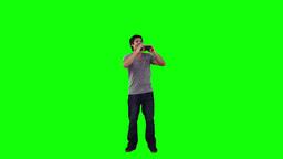 A man is looking through binoculars Footage