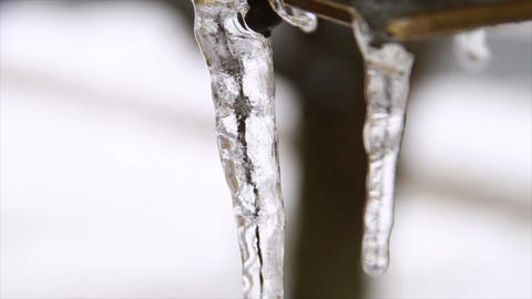 0228 Light Post , Ice Storm , Icing , Icicle Footage