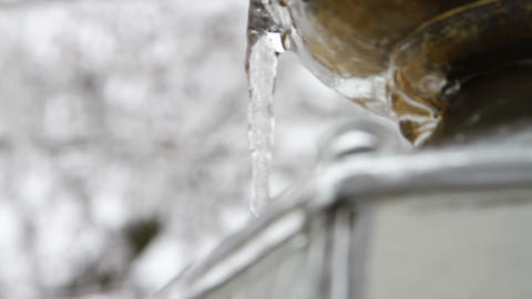 0229 Light Post , Ice Storm , Icing , Icicle Footage