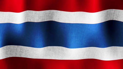 Flag of Thailand, Textured, Loopable (Seamless), H Animation