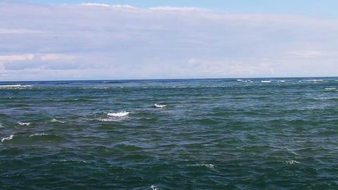 1670 Ocean Waves Blue Sky Footage