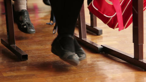 The Girl Shakes Her Legs In The School stock footage