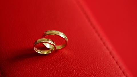 Wedding rings Footage