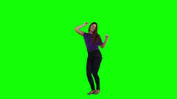 A young woman is dancing Stock Video Footage