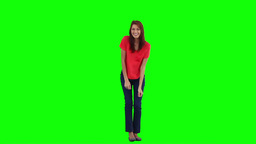 A young woman is dancing and having fun Footage