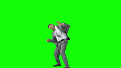 Businessman in slow motion raising his arms Footage