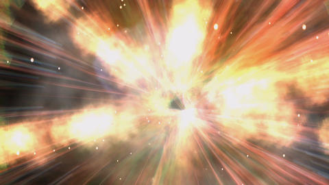 Animation Of A Cosmic Explosion stock footage