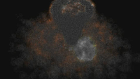 Animation of a cosmic Explosion Stock Video Footage