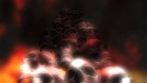 Creepy Animation of human Skulls Animation
