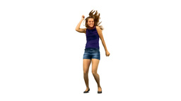 Woman dancing around in slow motion Stock Video Footage