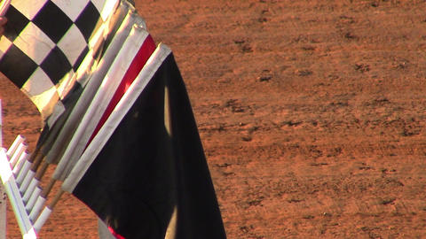 1677 Racing Flags, Checker Flag being Taken Out, S Footage