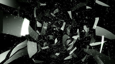 Glass and dollar symbol shattered slow motion. Alp Animation
