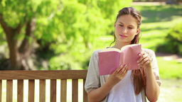 Close up of a woman reading a book Footage
