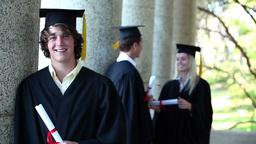 Portrait of a male graduate Footage