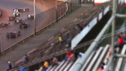 1688 Race Cars Racing at a Dirt Track Late Models Stock Video Footage