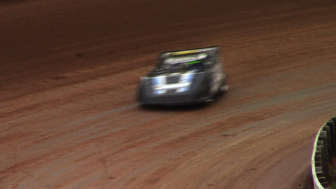 1698 Race Cars Racing on Dirt Track Late Models Footage