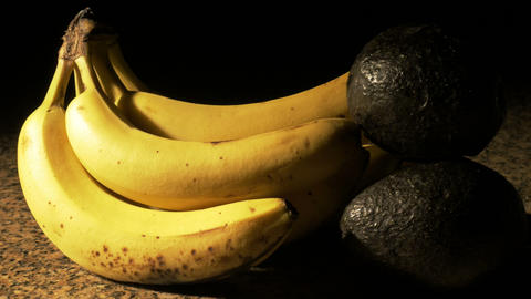 1705 Banana and Avocado Close Up, 4K Stock Video Footage