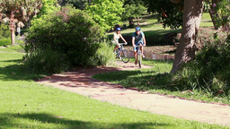 Couple biking together Stock Video Footage