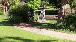 Couple biking together Footage