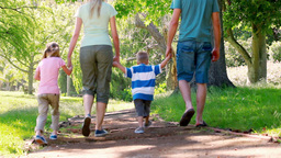 Young family walking Footage