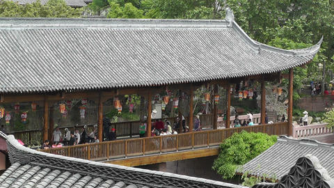 Wufeng Ancient Town Chengdu Area Sichuan China 22 Stock Video Footage