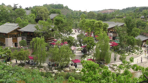 Wufeng Ancient Town Chengdu Area Sichuan China 16 Stock Video Footage