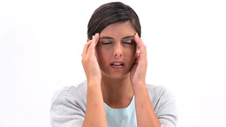 Woman having a headache Stock Video Footage