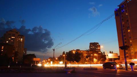 city night lights Footage