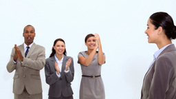 Business people clapping Footage