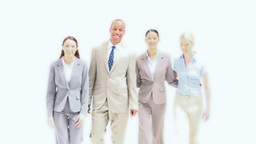 Business people standing side by side Stock Video Footage