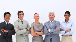 Business people standing side by side Live Action