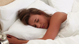 Peaceful woman sleeping Footage