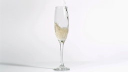 Sparkling wine falling in super slow motion in a f Footage