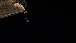 Several peanuts in super slow motion falling Stock Video Footage