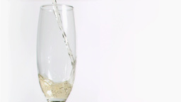Sparkling wine splashing in super slow motion in a Footage