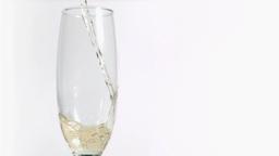 Sparkling wine splashing in super slow motion in a Footage