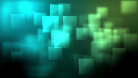 Blue and green squares appearing Stock Video Footage