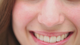 Close up of a brunette woman smiling Stock Video Footage