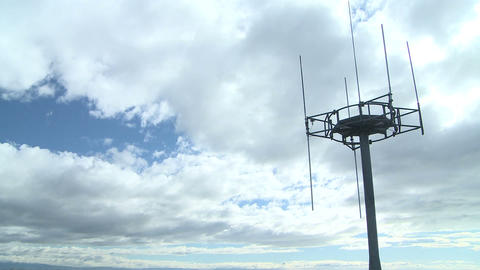 cell tower and clouds timelapse Stock Video Footage