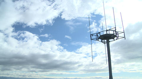 Cell Tower And Clouds Timelapse stock footage
