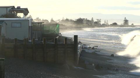 coastal erosion 1 Stock Video Footage